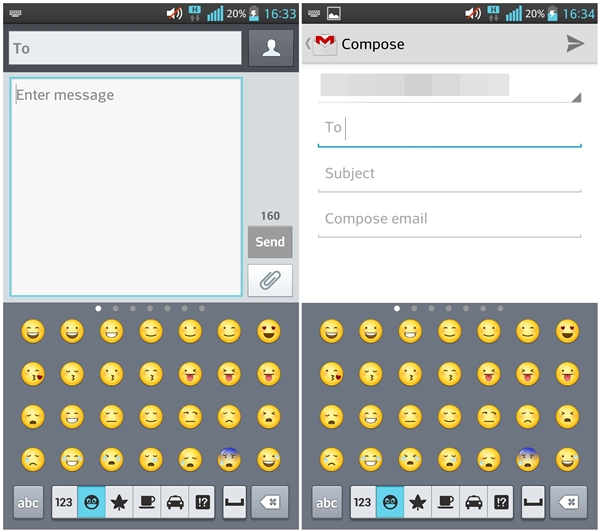 Color Emoticons for texting in email and SMS - a first for an Android smartphone.