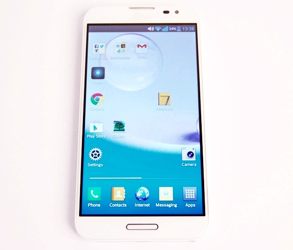 The LG Optimus G Pro is almost an exact copy of the Samsung Galaxy Note II except for a slightly shorter, narrower and lighter body.