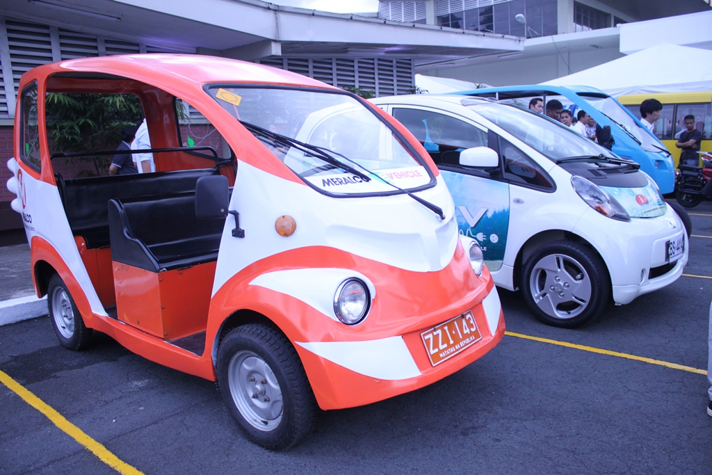 Parked eVehicle units inside Meralco Compound.