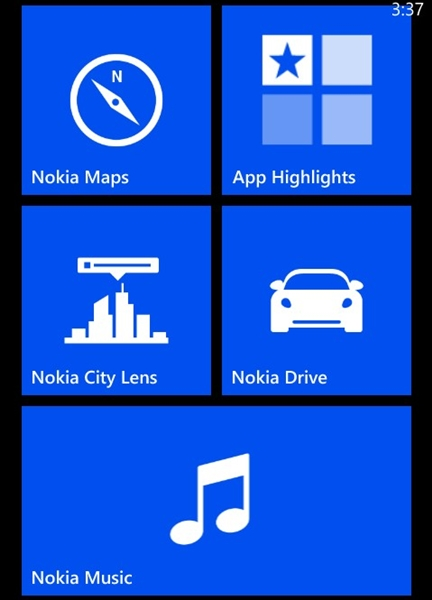 The Smart Screen on Windows Phone 8 allows you to customize the Live Tile sizes.