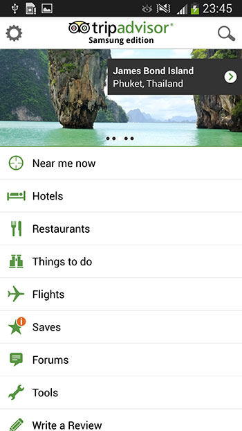 Need travel assistance? Like the S4, the TripAdvisor app is pre-loaded onto the S4 Active. And yes, Flipboard is still around.