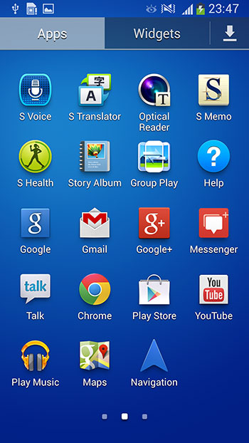 In May, the new Google+ Hangouts app has replaced Google Talk and Google+ Messenger. The latter two are still baked into the S4 Active's ROM.