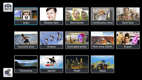 Besides Aqua, the other new addition is Continuous Shot mode, which lets you shoot 3 pictures per second.