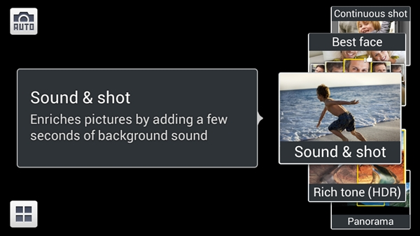 Sound & Shot enables you to record up to 9 seconds of audio with a photo.
