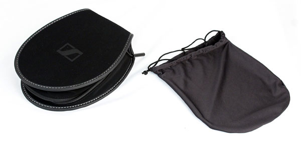 A soft pouch and case for carrying the Momentum On-Ear come part of the package. But do note that the older Momentum Over-Ear headphones come with a hard case.