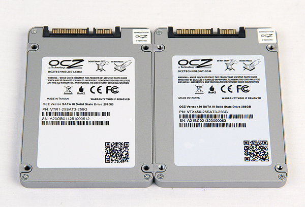 Both drives use a similar chassis, which means the Vertex 450 feels solid, much more so than other SSDs we have handled.