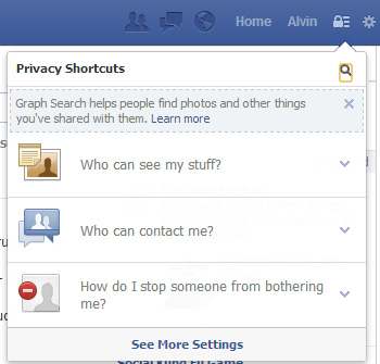 Click the lock icon on the top right to check your privacy settings.