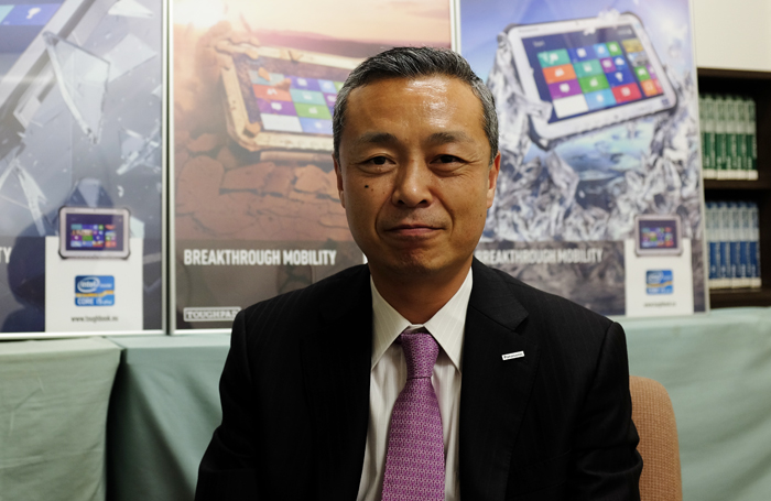 Mr. Hide Harada, Panasonic's Director of IT Products Business Unit isn't worried about emerging ruggedized technology in consumer devices.