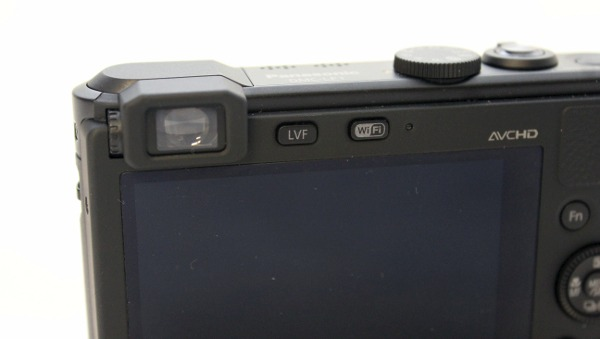The Panasonic LF1's electronic viewfinder is small, so while it's handy to use it once in awhile, your eye will be strained if you're looking to use it for an extended period of time.