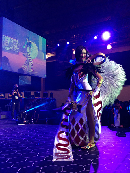 The fans also cheered for the fairest maidens of gaming at the Ms. Level Up! 2013 pageant.