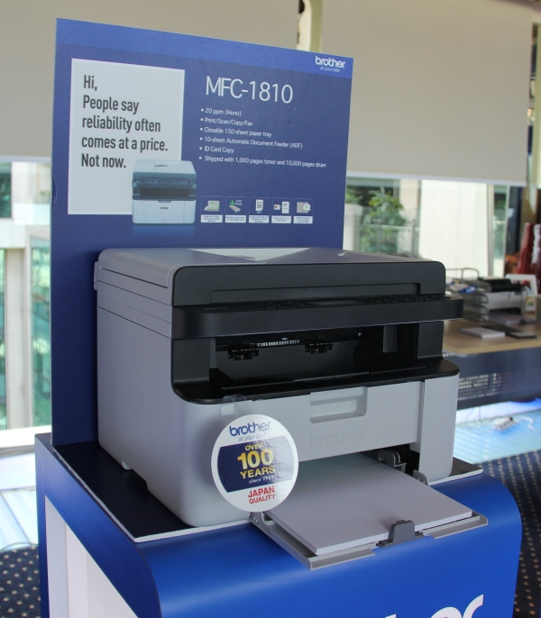 Brother's MFC-1810 isn't just a printer as it also functions as a fax