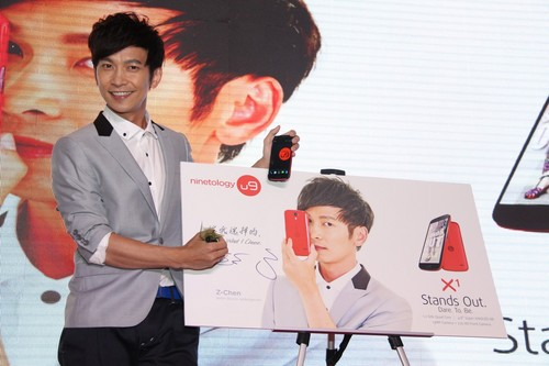 International chinese pop sensation, Z-Chen, the new Ambassador of Ninetology with his preferred U9X1.