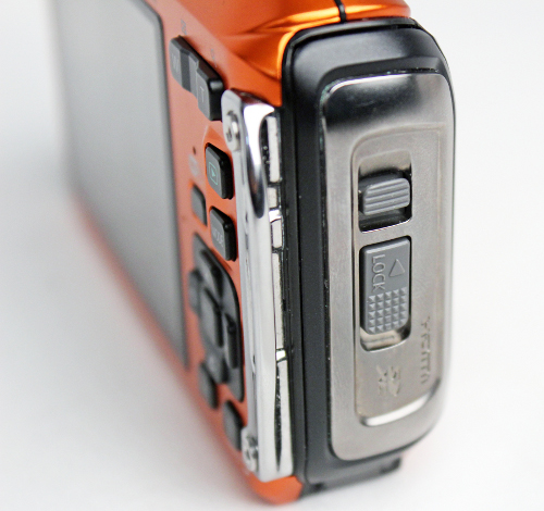 Two locks ensure that the door protecting the I/O ports are firmly closed.
