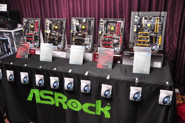 From L-R: ASRock Fatal1ty H87 Performance, ASRock Z87 Extreme4, ASRock Z87 Extreme6, ASRock Fatal1ty Z87 Professional, and ASRock Z87 OC Formula.