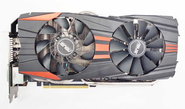 The ASUS GeForce GTX 780 card features its custom DirectCU II cooling system. It has been enhanced with the presence of a CoolTech fan (which sits over the GPU area), together with a regular 80mm cooling fan.