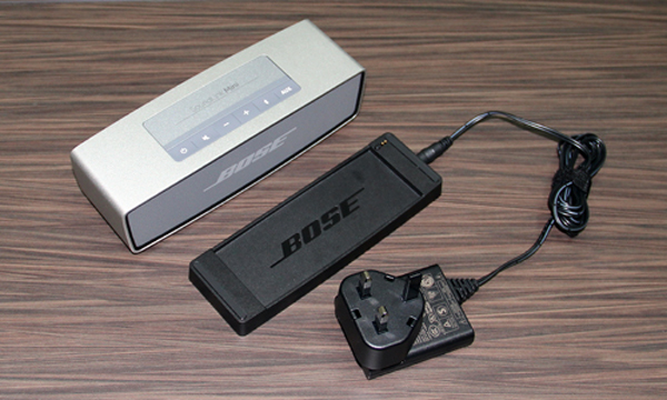 The Bose SoundLink Mini can be charged with the help of a docking cradle.
