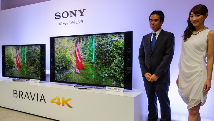 Masashi Imamura, President for Sony's Home Entertainment and Sound Business Group was on hand to introduce their new 4K LED TVs to attending media.