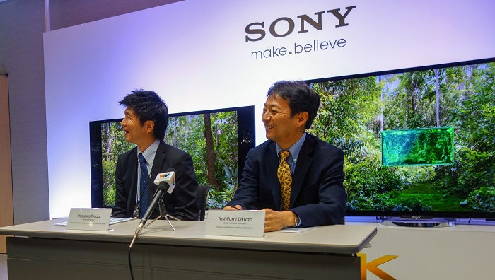 Right: Toshifumi Okuda, Senior General Manager, Home Entertainment and Sound Division, Sony; <br>Left: Yasuhiro Tsuda, Head, Home Entertainment and Sound Marketing Division, Sony South East Asia