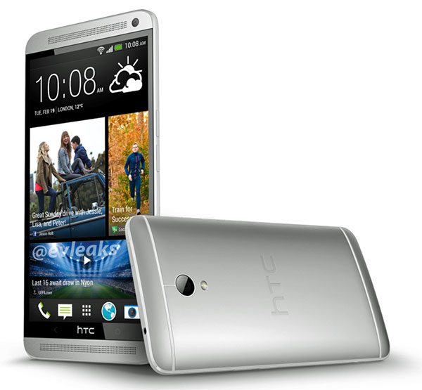 Introducing the 4.7-inch HTC One. Sorry, we mean the 5.9-inch HTC One Max. (Image source: @evleaks.)