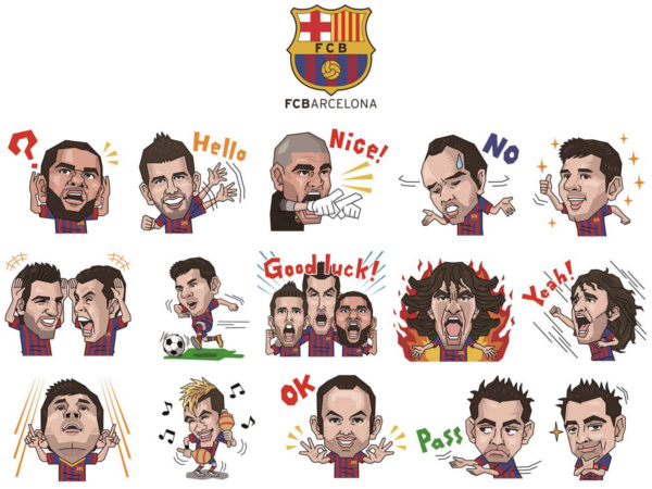 Featuring popular players including (but not limited to): Jordi Alba, Lionel Messi, Pedro Rodríguez, Gerard Piqué, Carles Puyol, Andrés Iniesta, Neymar, and Xavi Hernández.