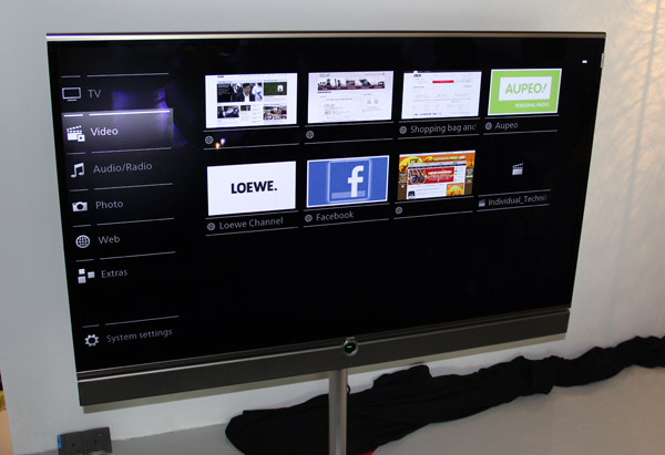 Seen here is the new user interface for the Loewe Individual TV.