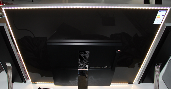 Around the edge of the rear panel, you can see the lights which help create the illusion that the Reference ID TV is more of an art installation than a TV when it's wall-mounted.