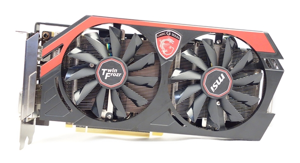 The MSI NVIDIA GeForce GTX 780 Twin Frozr Gaming sports the unique color scheme of its Gaming series.