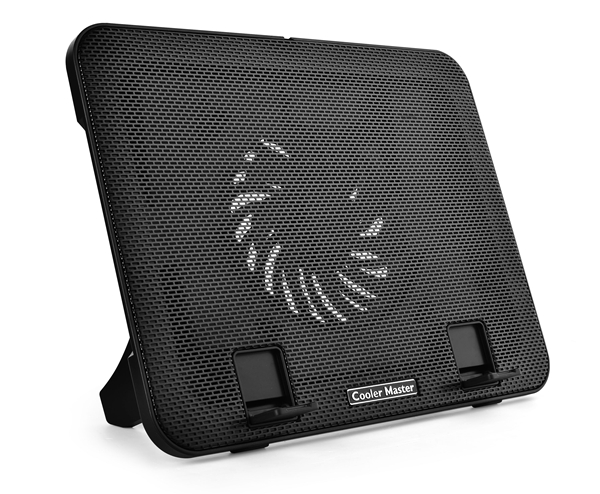 The Cooler Master NotePal I200, a dual-purpose cooling pad for your notebook, and also functions as a stand for your tablet. (Image Source: Cooler Master)