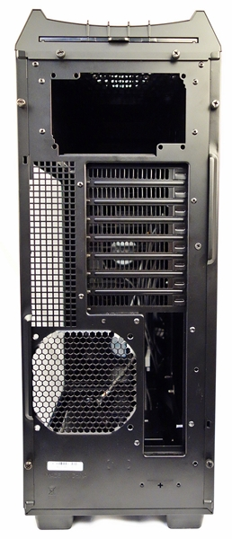 At the top of the chassis, near the option to mount the PSU, there is a removable dust filter.