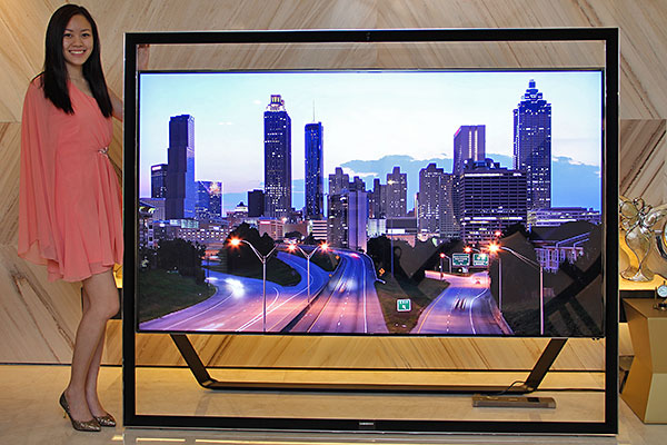 samsung 85 inch tv. first seen at ces earlier this year, and then again in april when samsung showcased its 2013 smart tv lineup, the korean company\u0027s 85-inch s9 ultra-hd 85 inch tv i