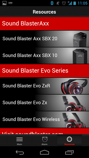 The Sound Blaster Central app is not just for the Evo Zx but can be used for other Creative audio products that also feature the SB-Axx1 chip.