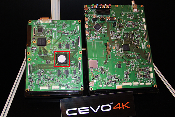 The CEVO 4K chip (highlighted in red) took 120 engineers 3 years of hard work before it's ready for prime time.