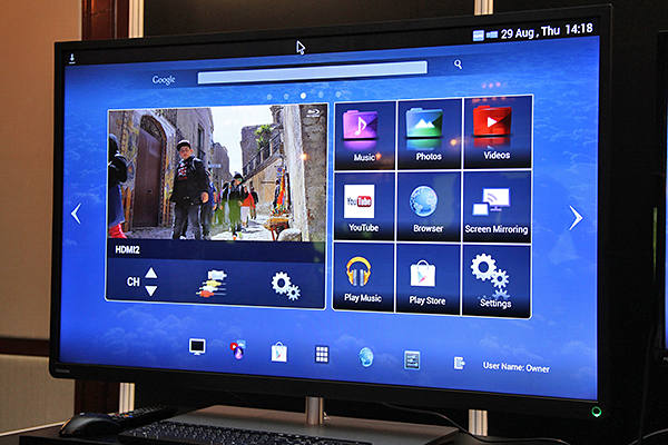 The L4300 runs the Android OS, which is a big surprise for us, considering Toshiba has its own Cloud TV online content platform.