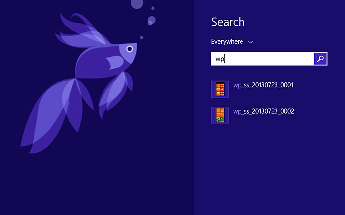 Search in Windows 8.1 will also locate files that are stored on SkyDrive online.