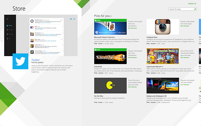 Instead of being category-driven, the revamped Windows Store is now user and popularity-driven.