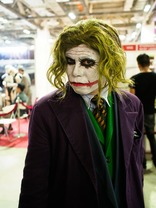 This cosplayer was awesome as the Joker.