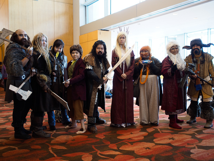 The most well co-ordinated cosplay group we saw. Those are some serious hair extensions.