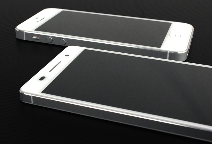 The top half of the Ascend P6 bears a striking resemblance to Apple's iPhone 5.