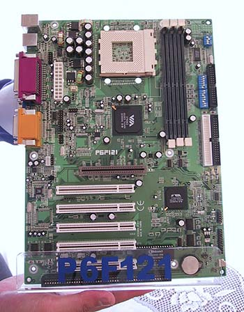 Freetech's Socket-A motherboard, the P6F121