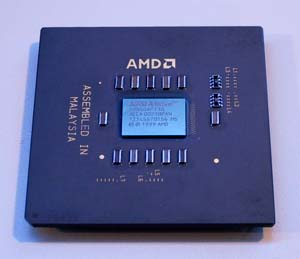 The AMD Duron. Hmm... looks like it's not going to be easy to overclock. : )