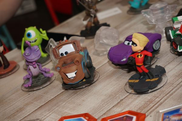 A close-up shot of the Disney Infinity figures that will be available for purchase separately