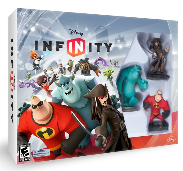 The Disney Infinity Starter Pack comes with the game, the base, and 3 characters and their respective playsets