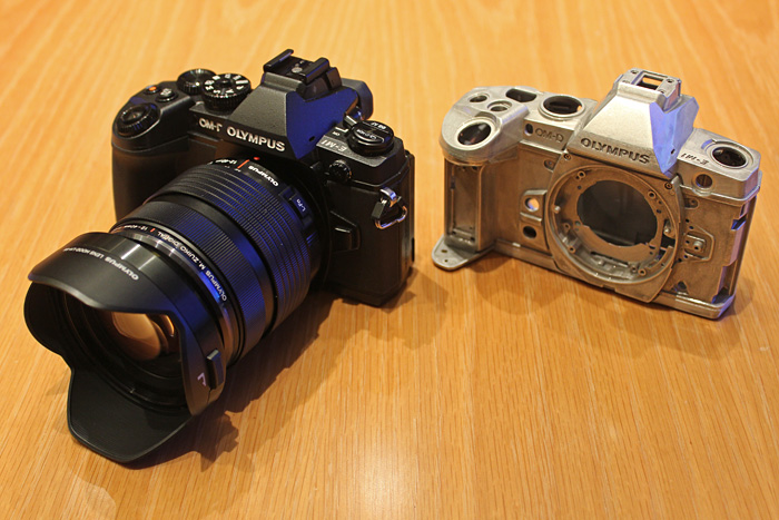 The Olympus OM-D E-M1 with the new 12-40mm f/2.8 lens and its magnesium alloy frame.