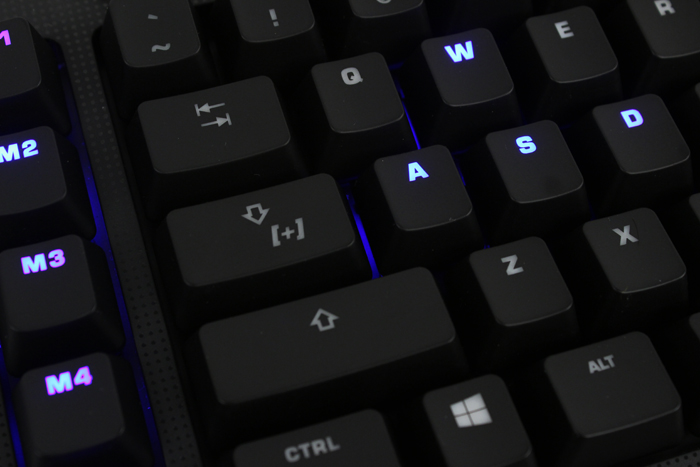 The caps lock key doubles up as the EasyShift modifier key.
