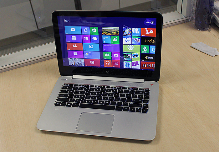 The Envy 14 TouchSmart Ultrabook is one of the few 14-inch notebooks to sport a QHD display - a whopping 3200 x 1800 pixels.