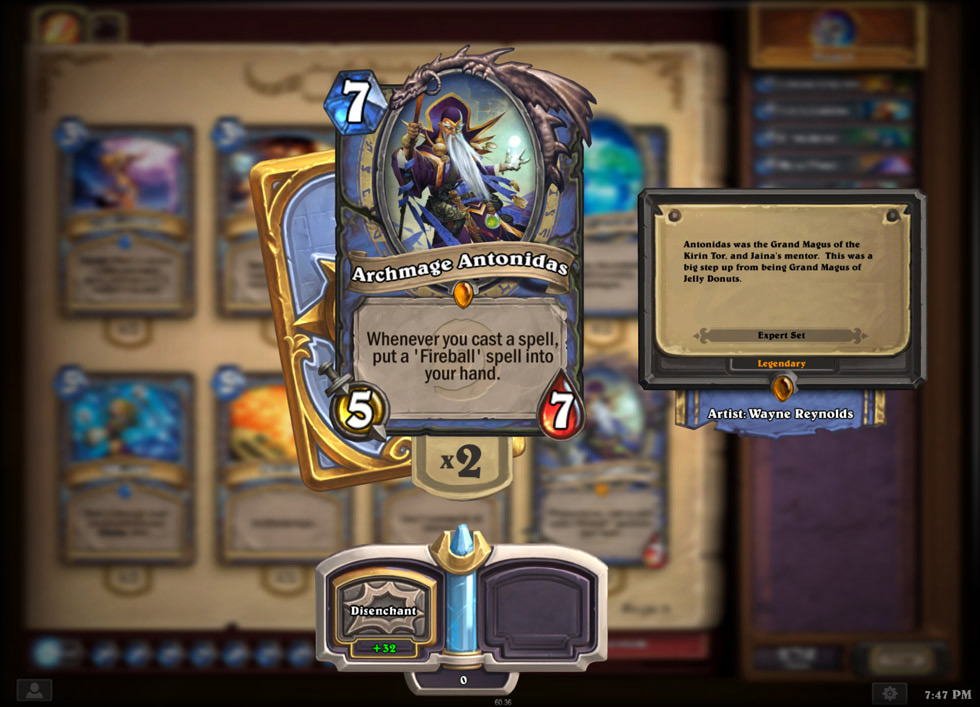 Cards can't be traded in Hearthstone, but you can destroy unwanted cards to craft other cards.