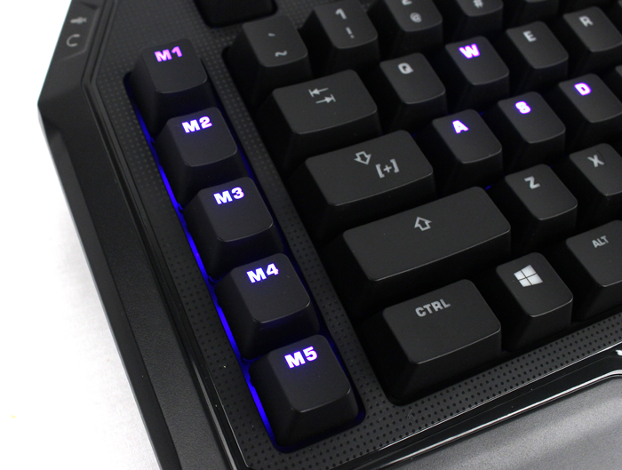 A row of macro buttons can be found along the right side of the MK Pro.