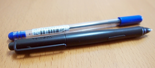 Even though the TruPen is thicker than the normal pen, it is quite lightweight and easy to handle.