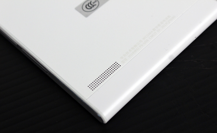 The P6's speaker is strangely located on the rear, projecting the sound away from you (or right into your palm).