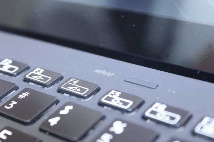 Like Lenovo, there's also an assist button that helps users for troubleshooting their notebook.